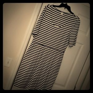 Blk/wht striped dress